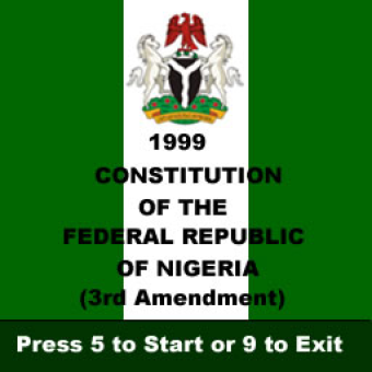 nigerian constitution The constitution of nigeria is the supreme law of the federal republic of nigeria nigeria has had a series of constitutions the current constitution was enacted on 29 may 1999, inaugurating the nigerian fourth republic.